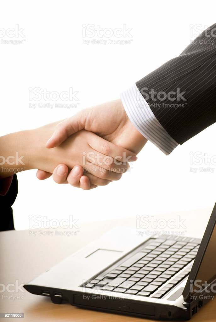 Business people making a treaty royalty-free stock photo