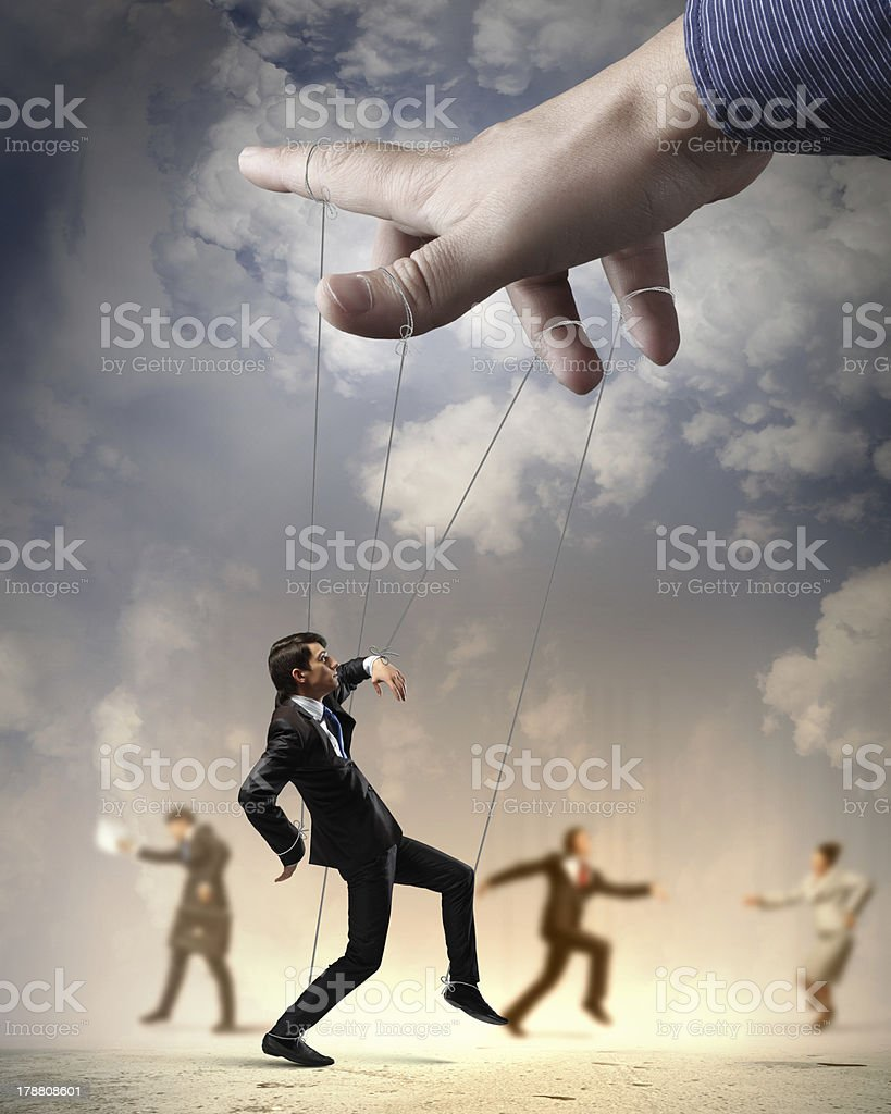 Business people marionette stock photo