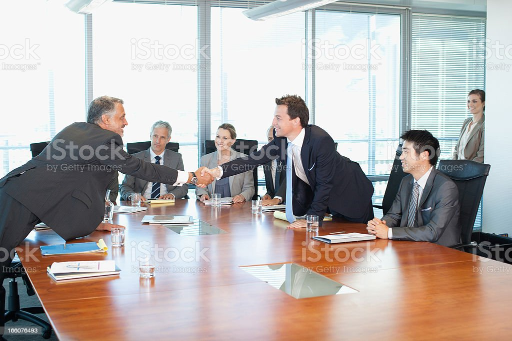 Business people meeting at table in conference room royalty-free stock photo