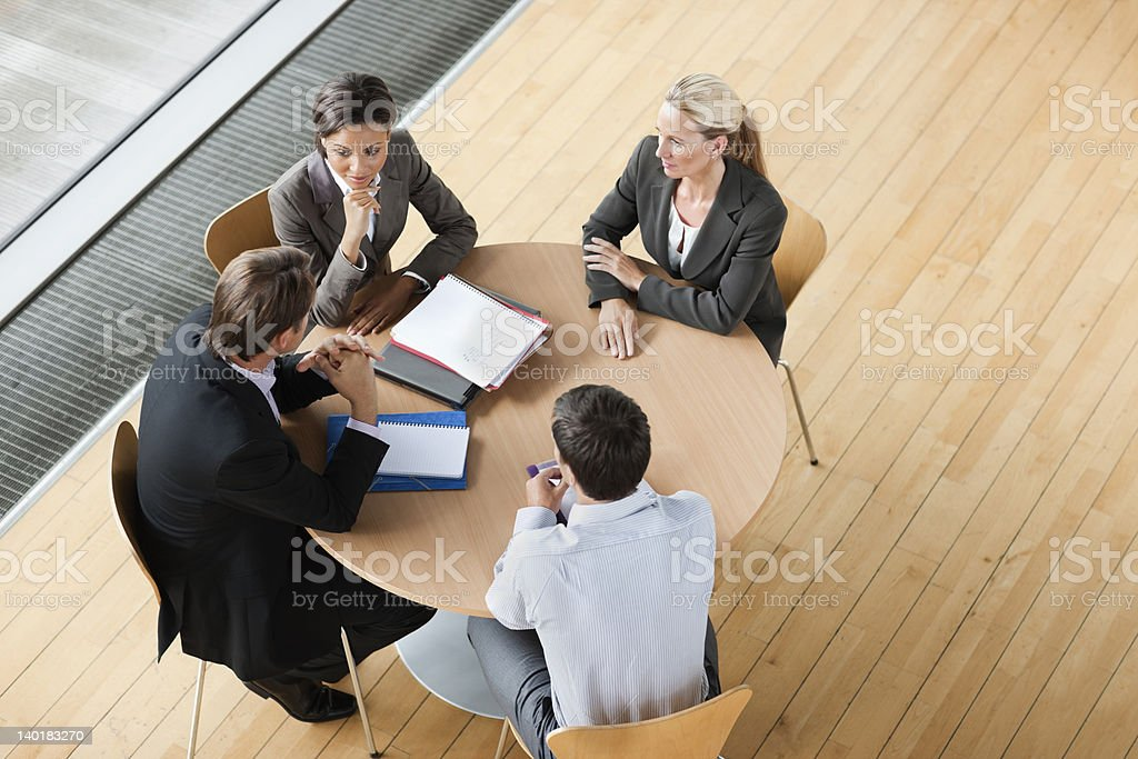 Business people meeting at table royalty-free stock photo