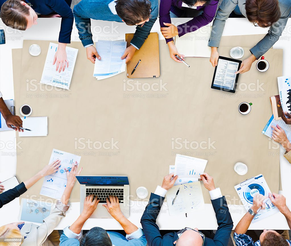 Business People Meeting Brainstorm Concept stock photo