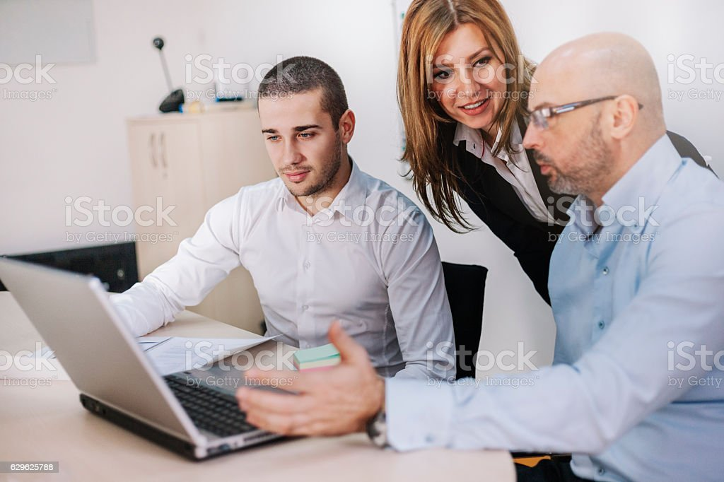 Business People Meeting Communication Working Office Concept royalty-free stock photo