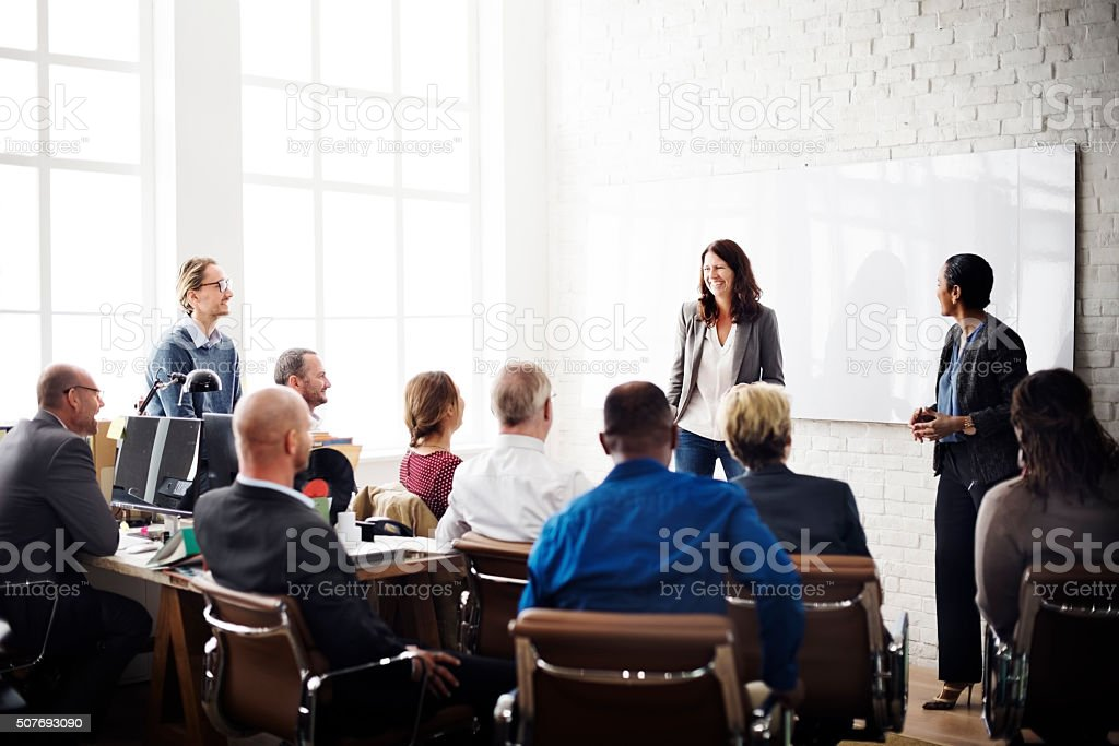 Business People Meeting Conference Brainstorming Concept stock photo