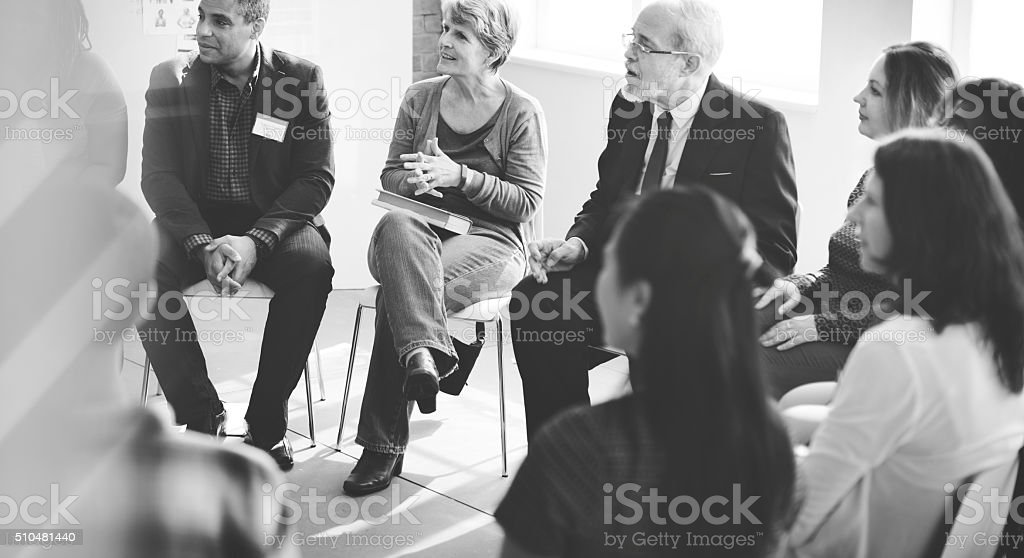 Business People Meeting Conference Discussion Working Concept stock photo