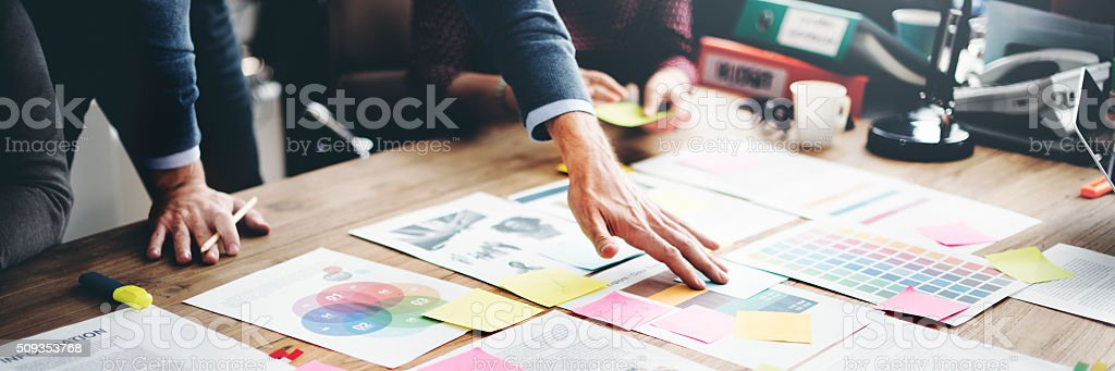 Business People Meeting Design Ideas Concept stock photo