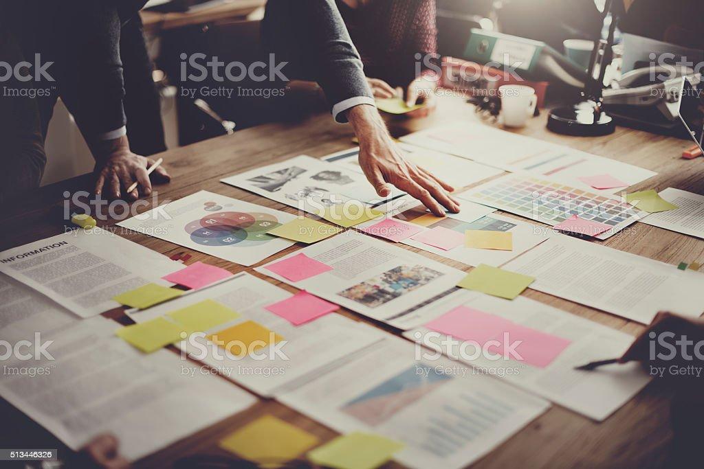 Reunião de pessoas de negócios de Design conceito de ideias - fotografia de stock
