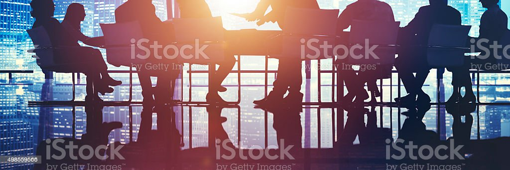 Business People Meeting Discussion Cityscape Concept stock photo