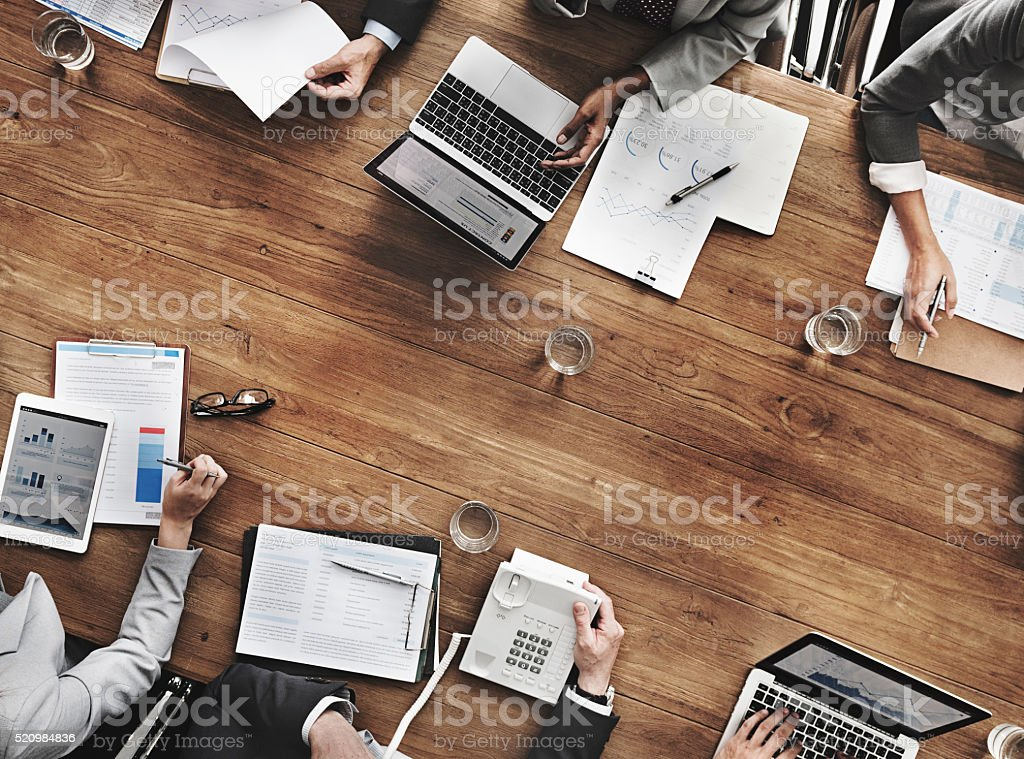 Business People Meeting Growth Success Target Economic Concept stock photo
