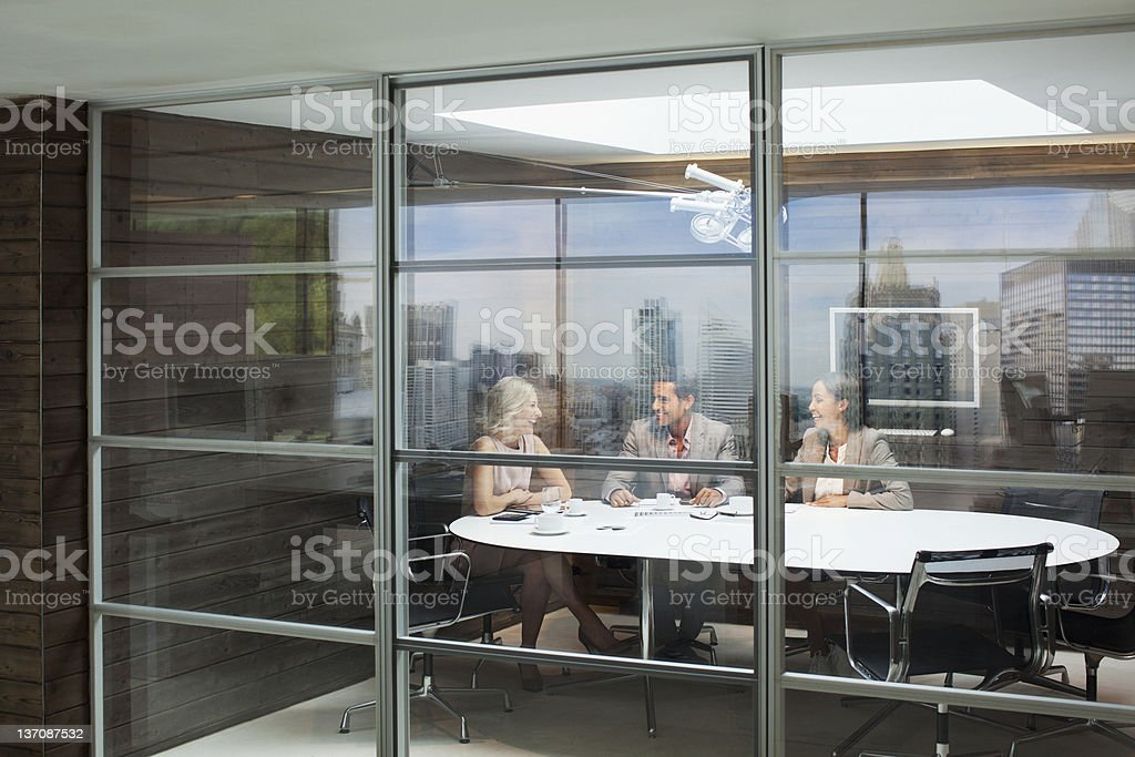 Business people meeting in conference room royalty-free stock photo