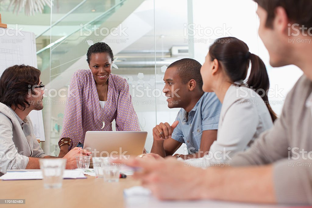Business people meeting in conference room stock photo