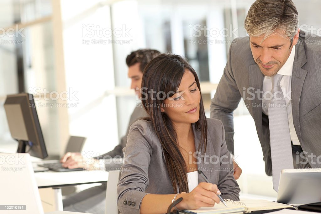 Business people meeting in office royalty-free stock photo
