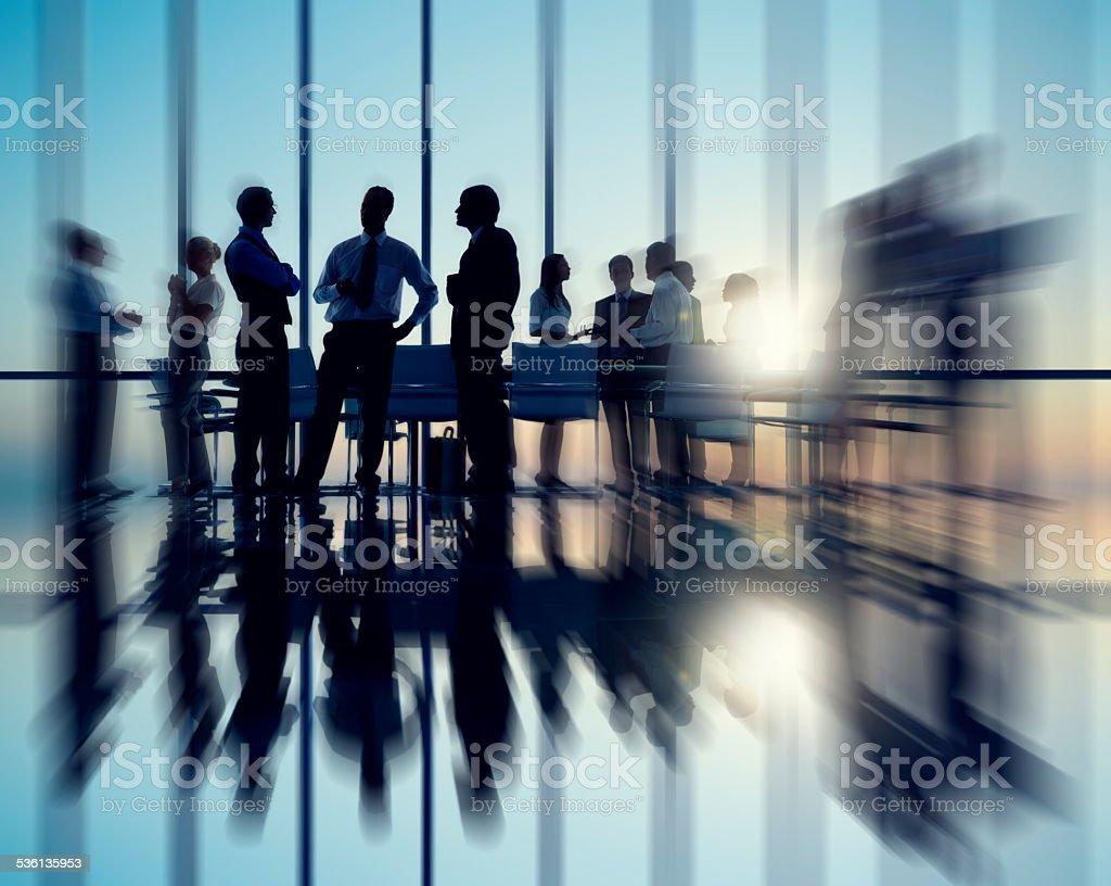 Business People Meeting Seminar Conference Partnership Collabora stock photo