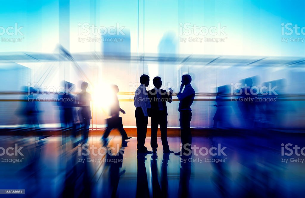 Business People Meeting Seminar Corporate Office Concept stock photo