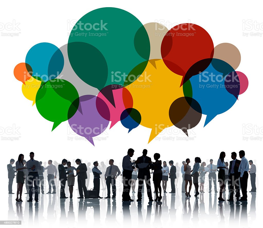 Business People Message Talking Communication Concept stock photo