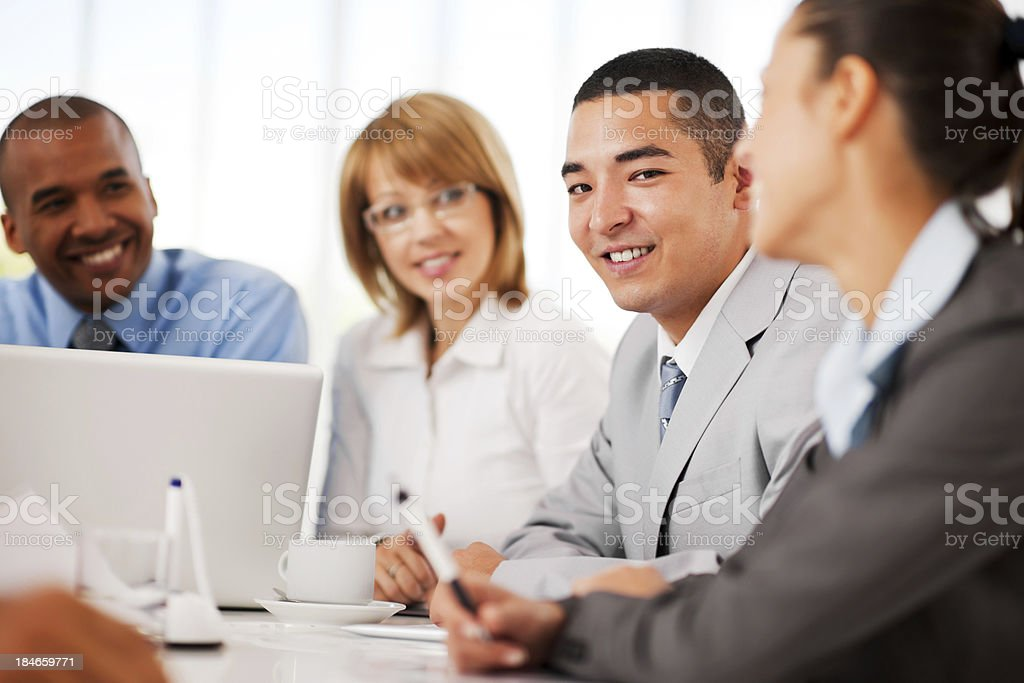 Business people on a meeting. royalty-free stock photo