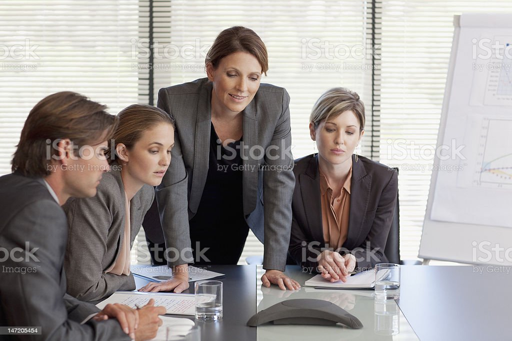 Business people on conference call royalty-free stock photo