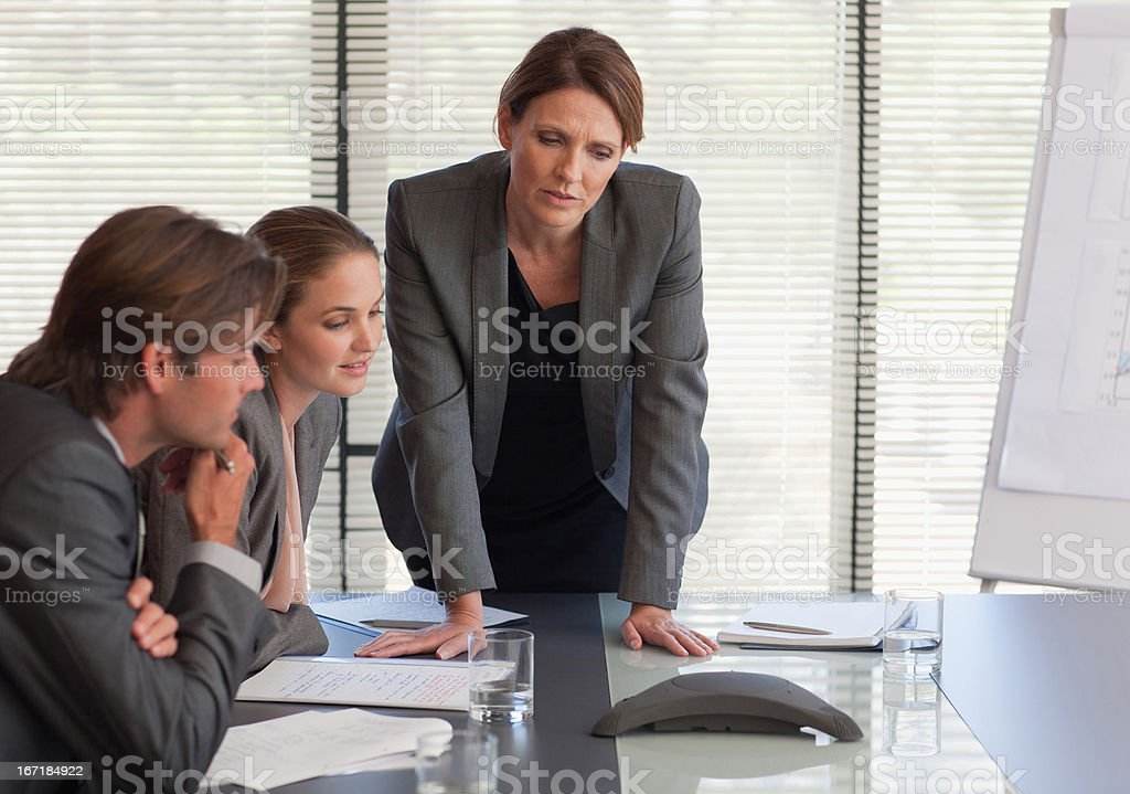 Business people on conference call stock photo