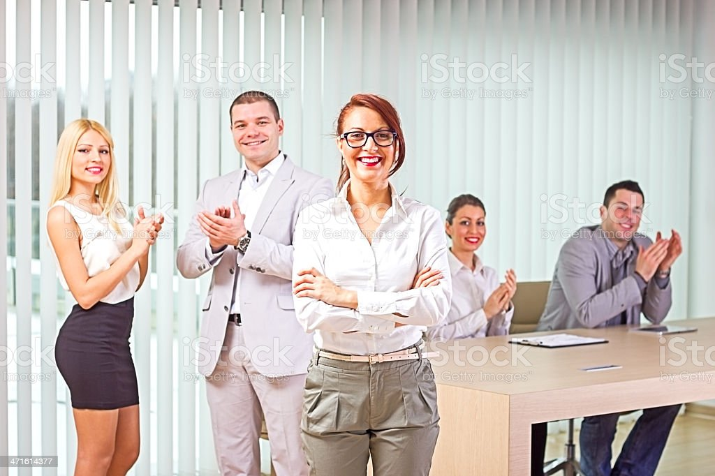 Business people on conference. royalty-free stock photo