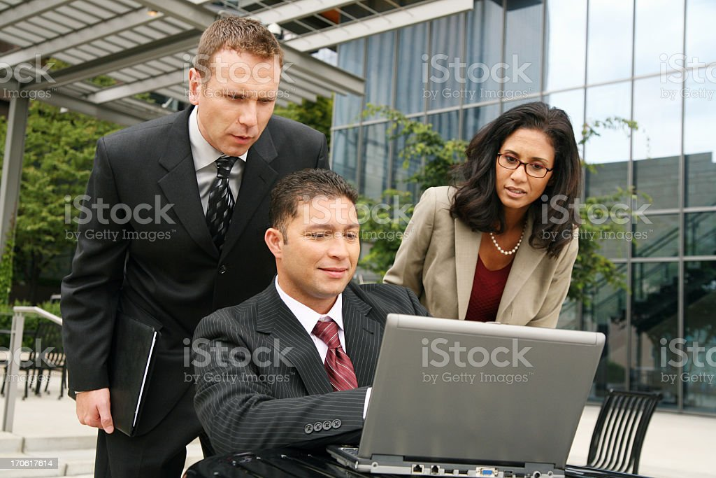Business people on laptop royalty-free stock photo