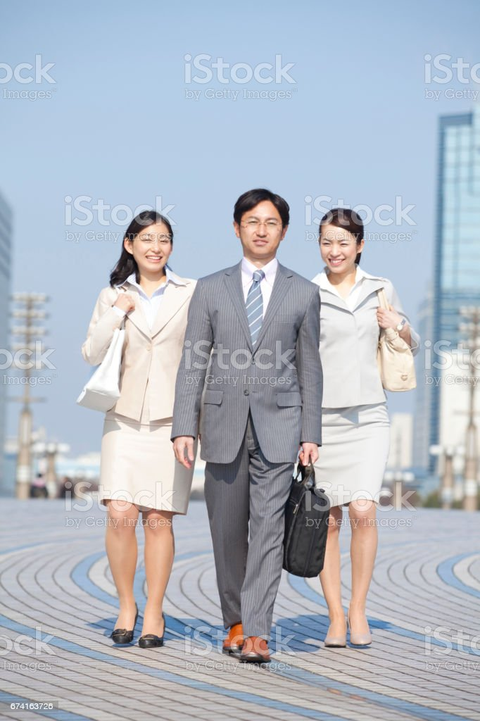 Business people on the move and OL 2 stock photo