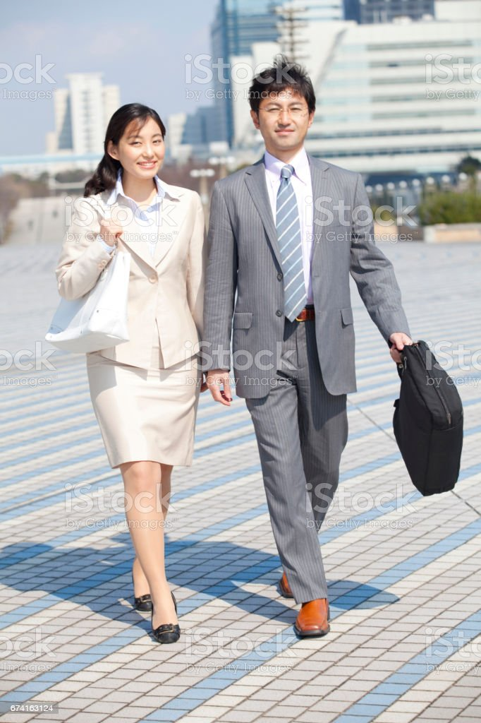Business people on the move and OL stock photo