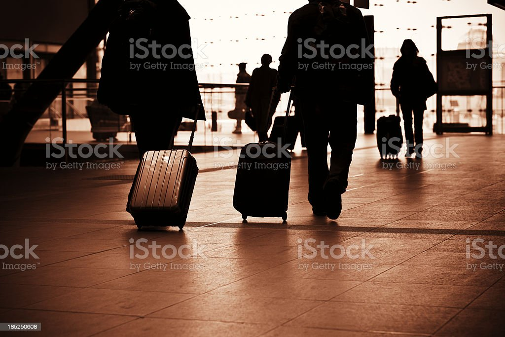 Business people on the move royalty-free stock photo