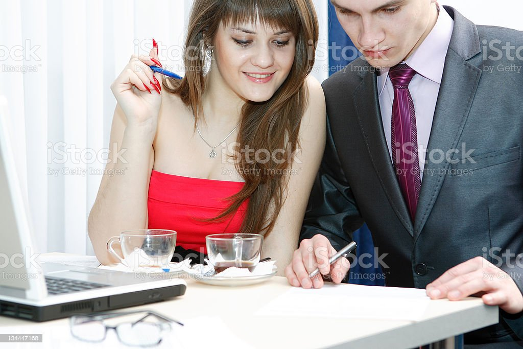 Business people on work royalty-free stock photo