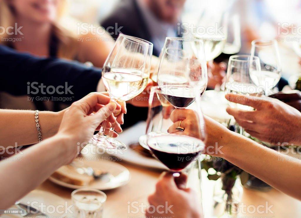 Business People Party Celebration Success Concept stock photo