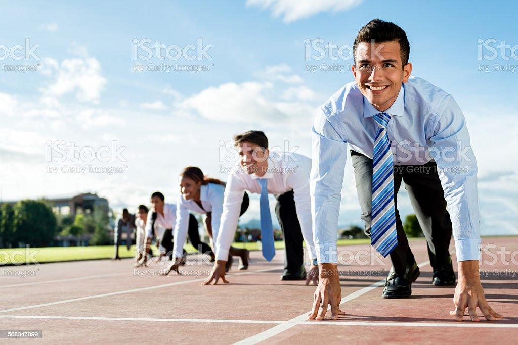 Business people racing stock photo