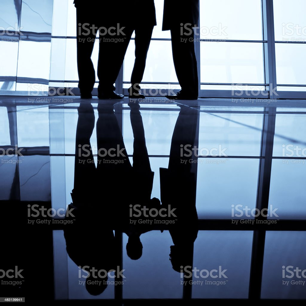 business people reflection royalty-free stock photo