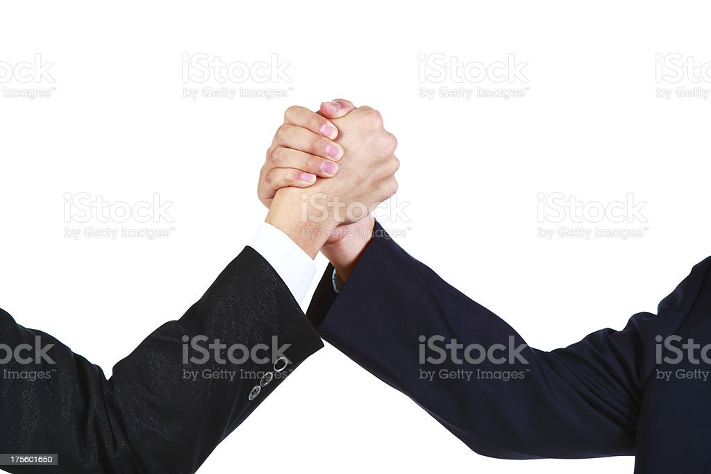 Business people rivalry or unity-XXXL royalty-free stock photo