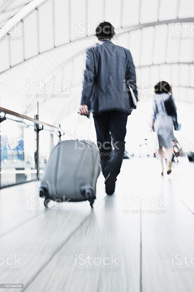 Business people rushing in train station stock photo