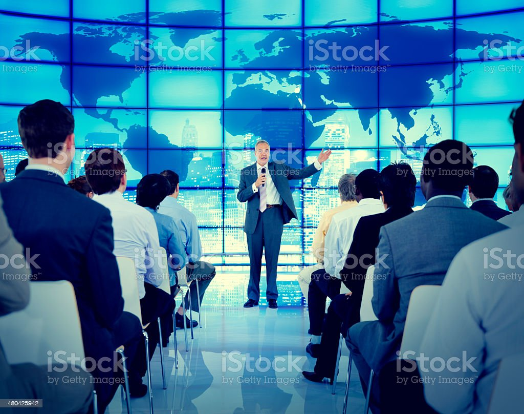 Business People Seminar Conference Meeting Office Training Conce stock photo