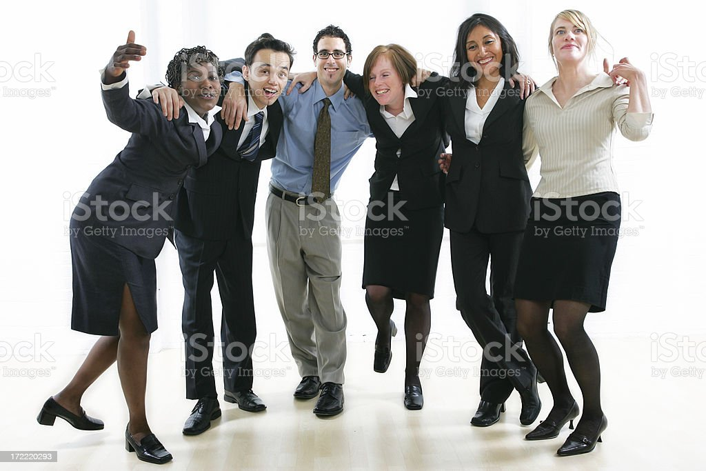 Business people series : Happy workteam royalty-free stock photo