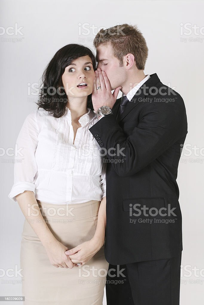 Business people sharing secreat royalty-free stock photo