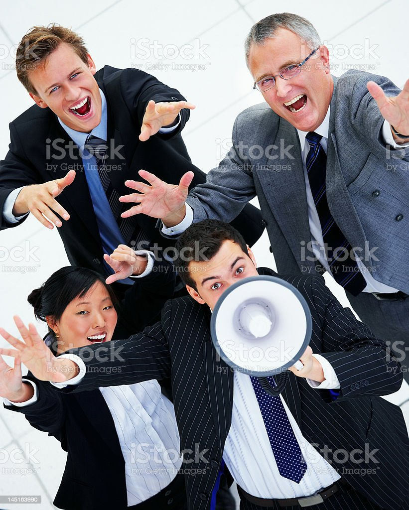 Business people shouting royalty-free stock photo