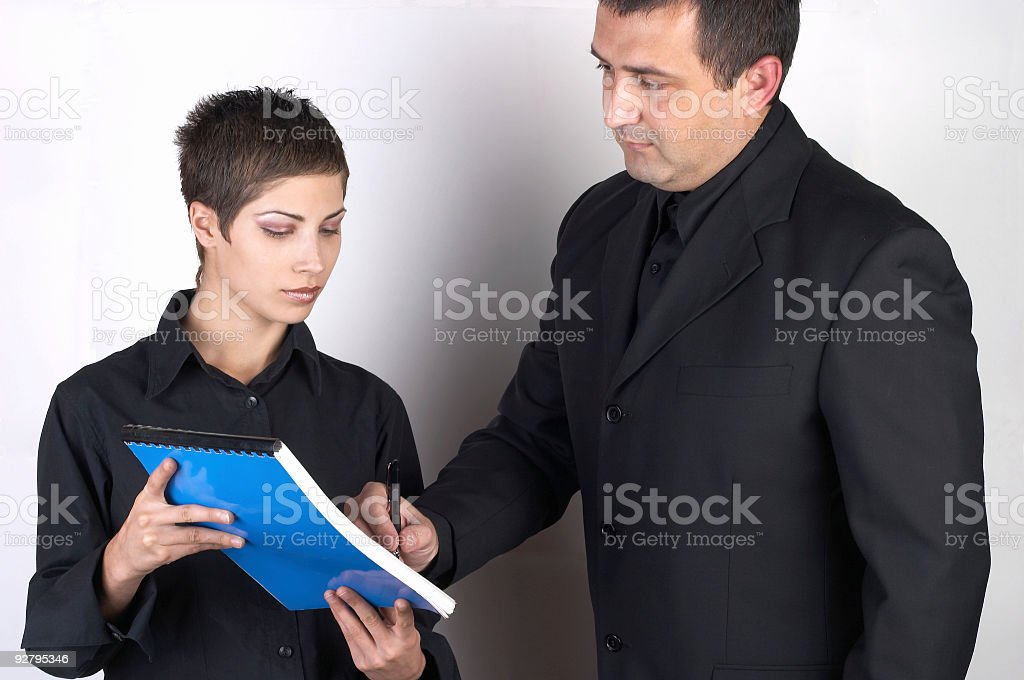 Business people -Signing Contract royalty-free stock photo