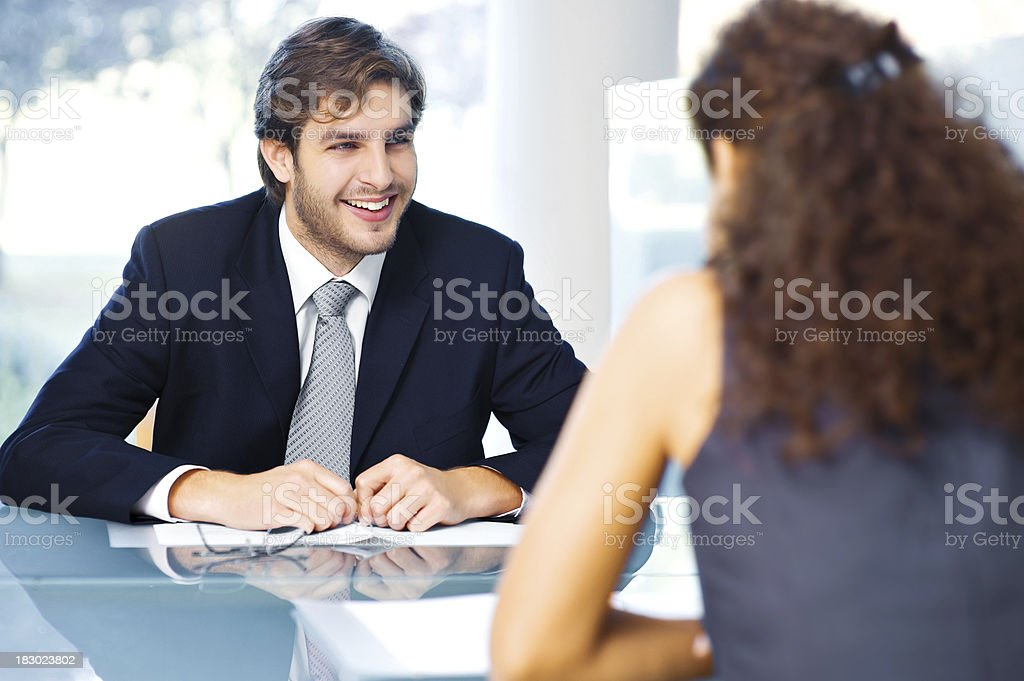 Business people sitting at the office royalty-free stock photo
