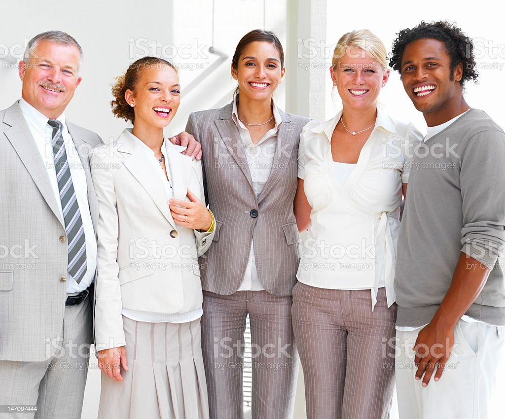 Business people smiling royalty-free stock photo