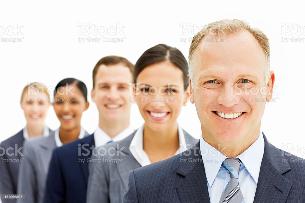 Business People Standing in a Line royalty-free stock photo