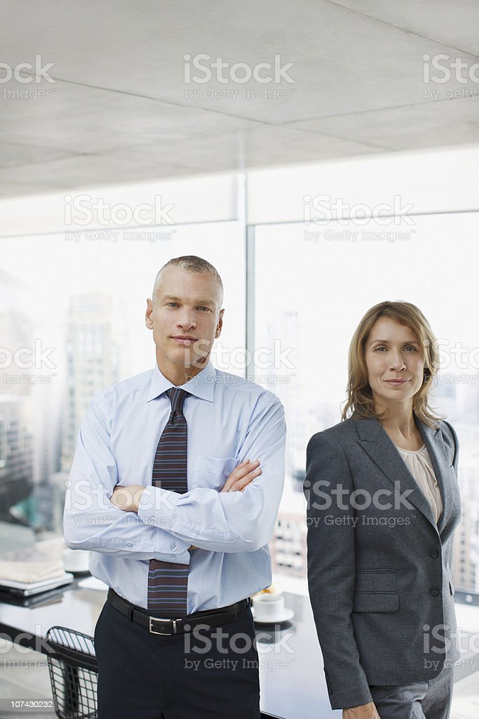 Business people standing in conference room royalty-free stock photo