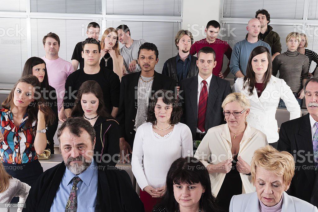 Business people standing royalty-free stock photo