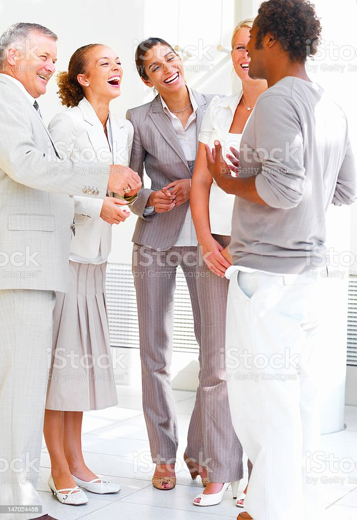 Business people standing together royalty-free stock photo