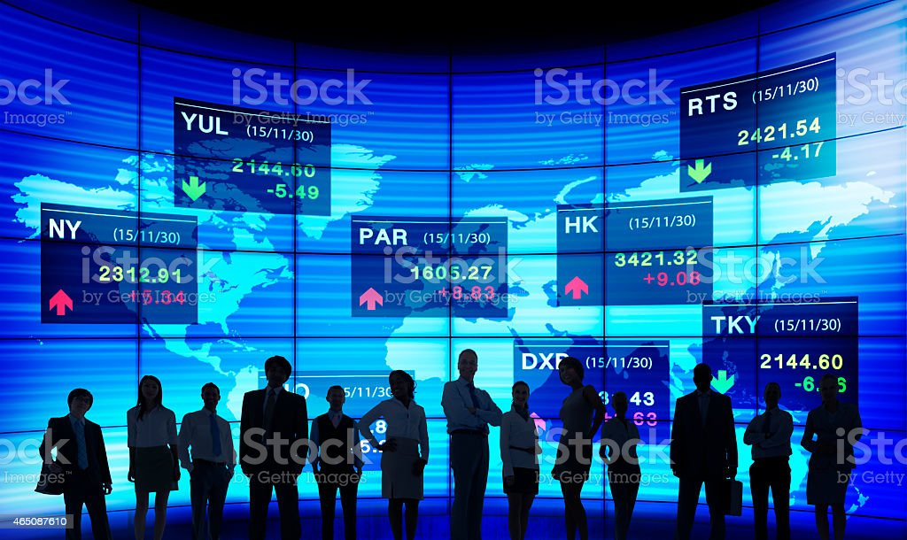 Business People Stock Exchange Concept stock photo