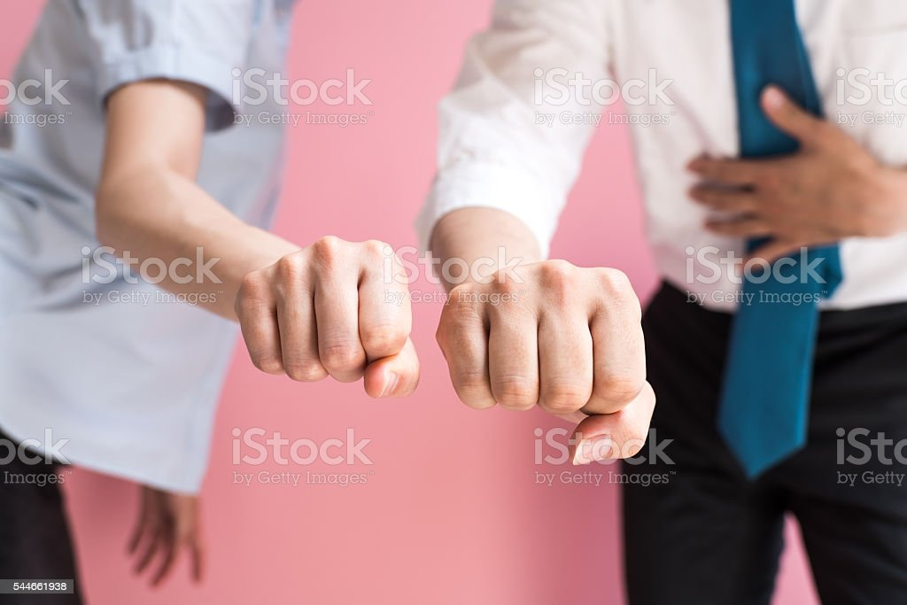 Business people striking a pose stock photo