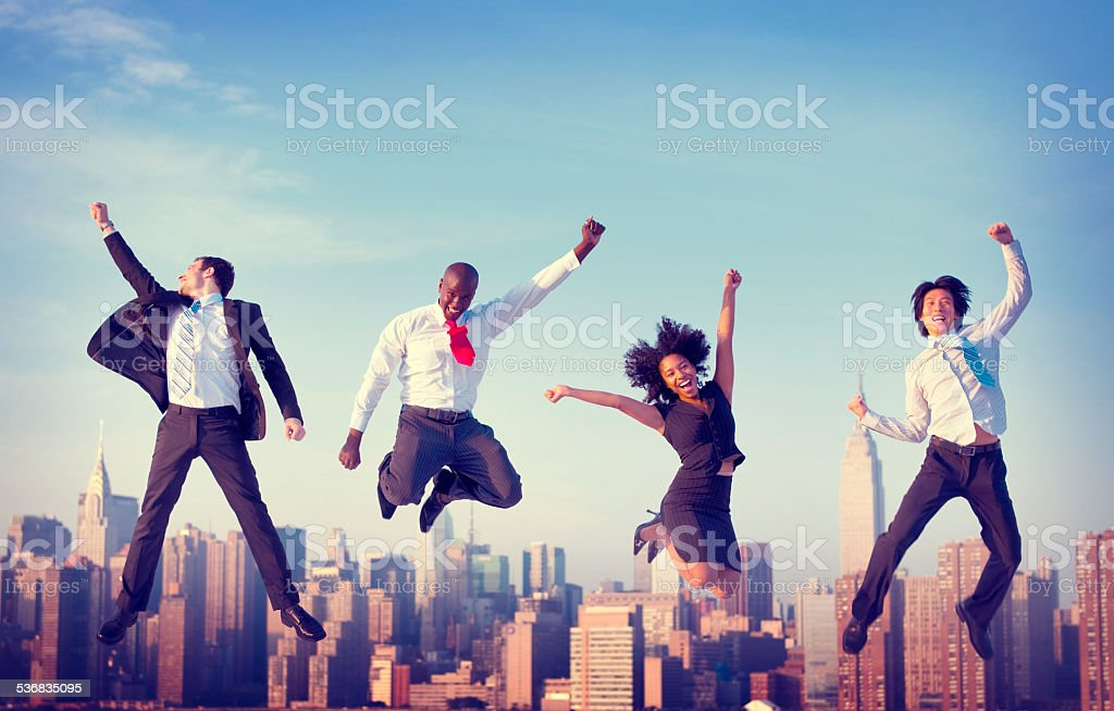 Business People Success Achievement City Concept stock photo