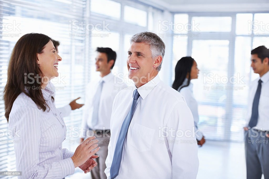 Business people taking a break from work royalty-free stock photo