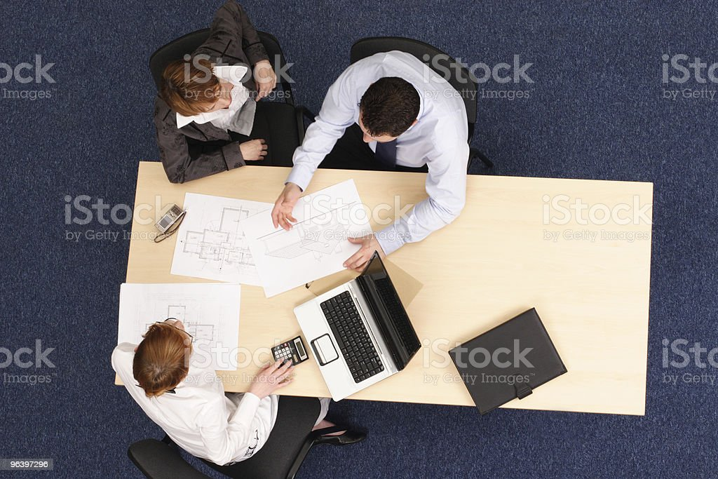 business people talking about strategy royalty-free stock photo