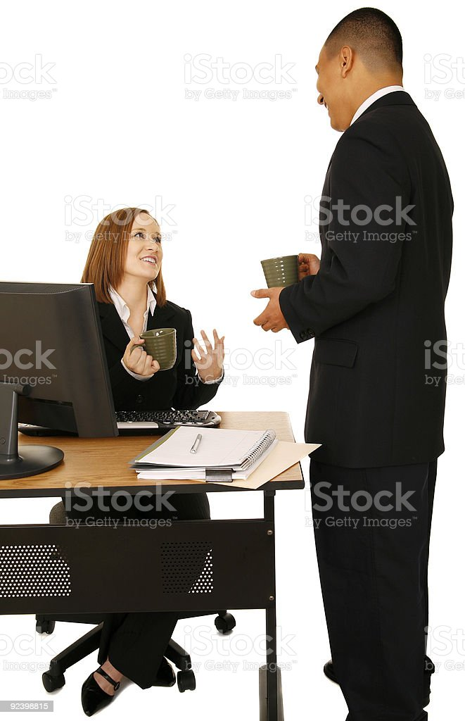 Business People Talking During Break royalty-free stock photo