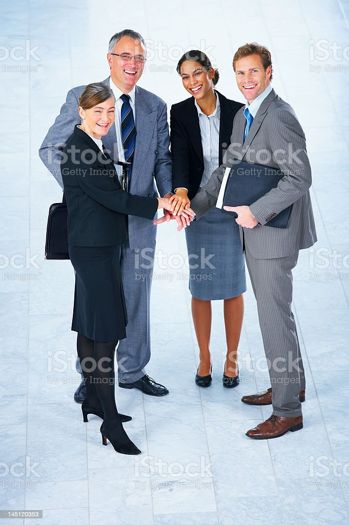 Business people talking in a meeting royalty-free stock photo